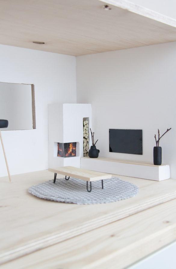 DIY Puppenhaus Möbel im Skandi Look