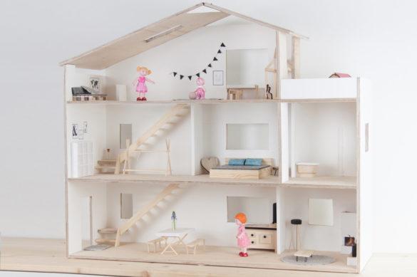 Puppenhaus Skandi selber bauen DIY