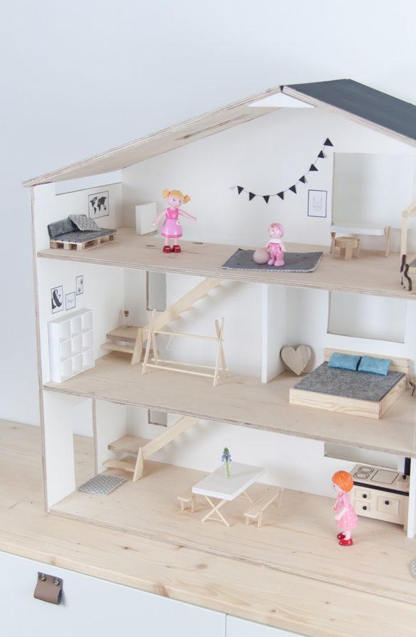 Puppenhaus Skandi Minimalistisch