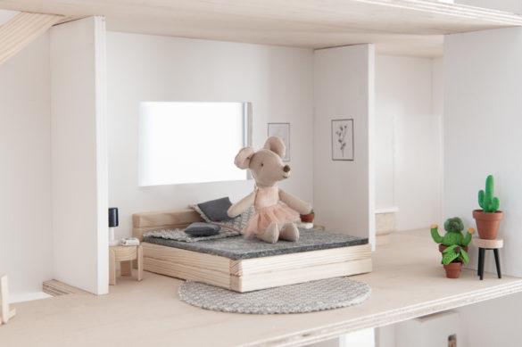 Bett Puppenhaus Holz Bastelset
