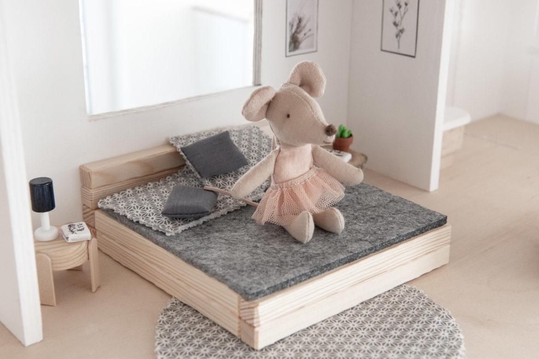 Bett Puppenhaus DIY Anleitung