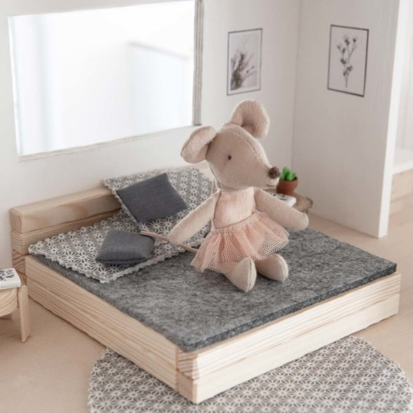 Puppenhaus Möbel Bett Bastelset