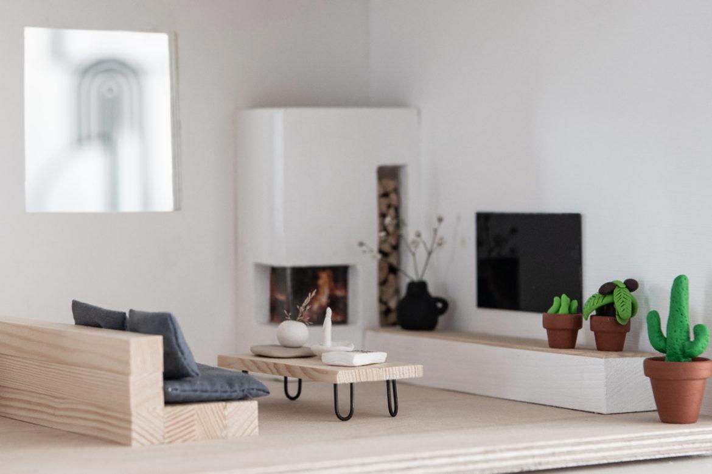 Puppenhausmöbel Skandi minimalistisch