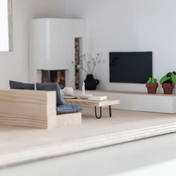 Puppenhaus moderne Möbel Tisch